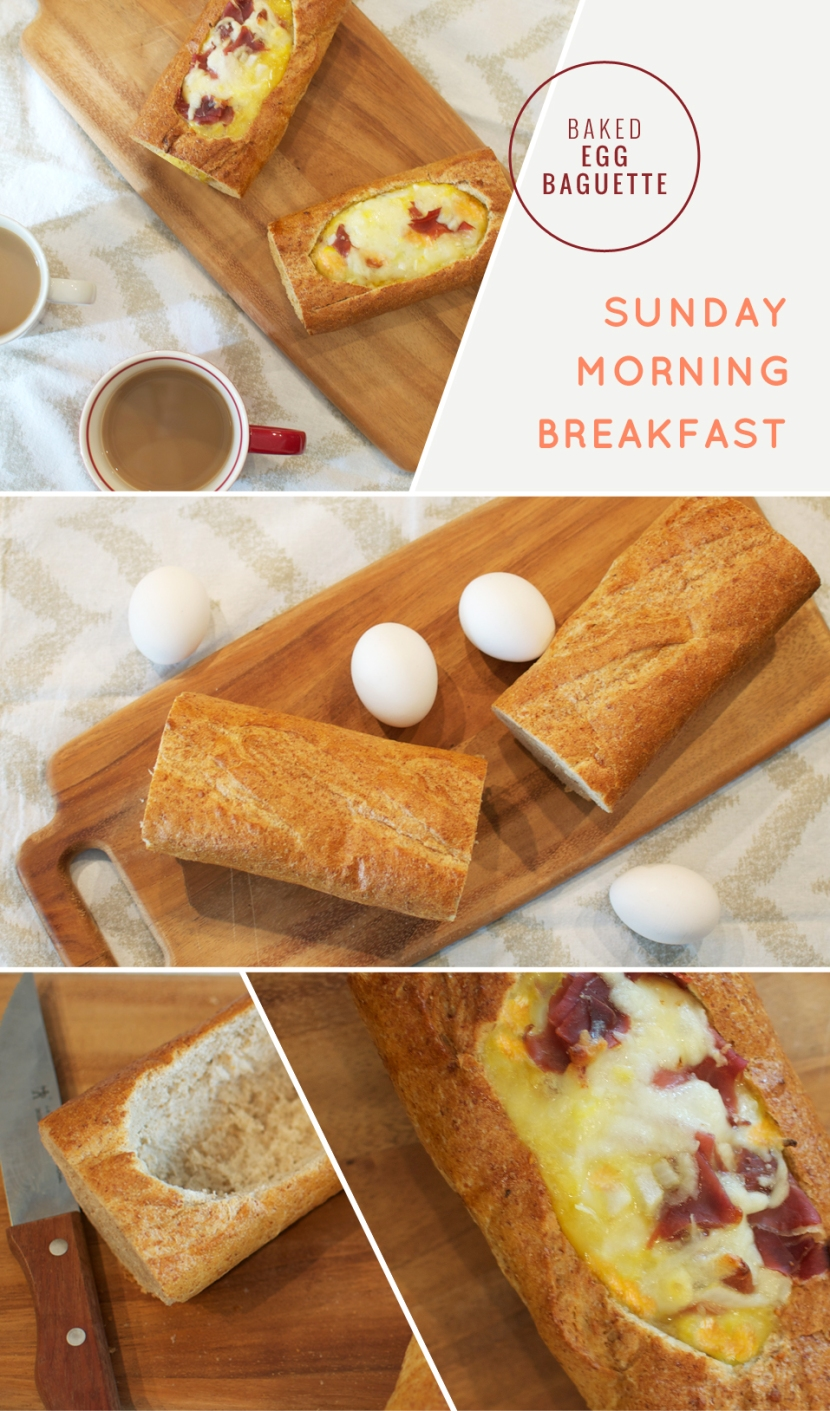 sunday-breakfast-baked-egg-baguette